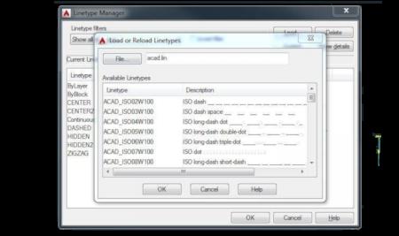 AutoCAD потребителски линии, създаване.